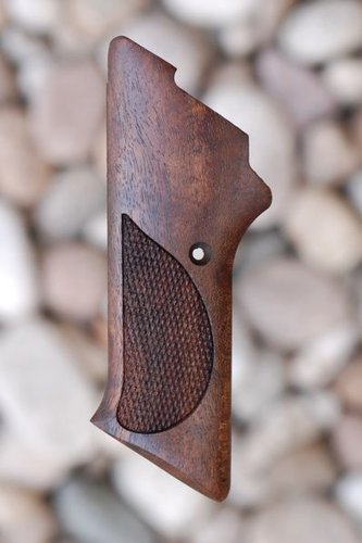 COLT WOODSMAN 3rd series GRIPS W/O THUMB REST (checkered)