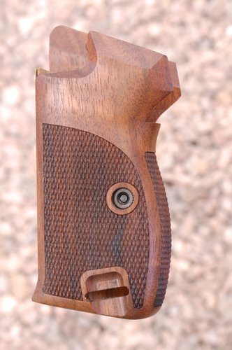 SIG P210 grips, bottom m.r, heavy (checkered back)